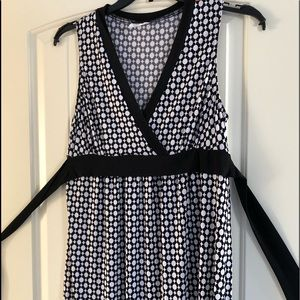 W Wrapper Dress Size XL Black White Wrap Sundress